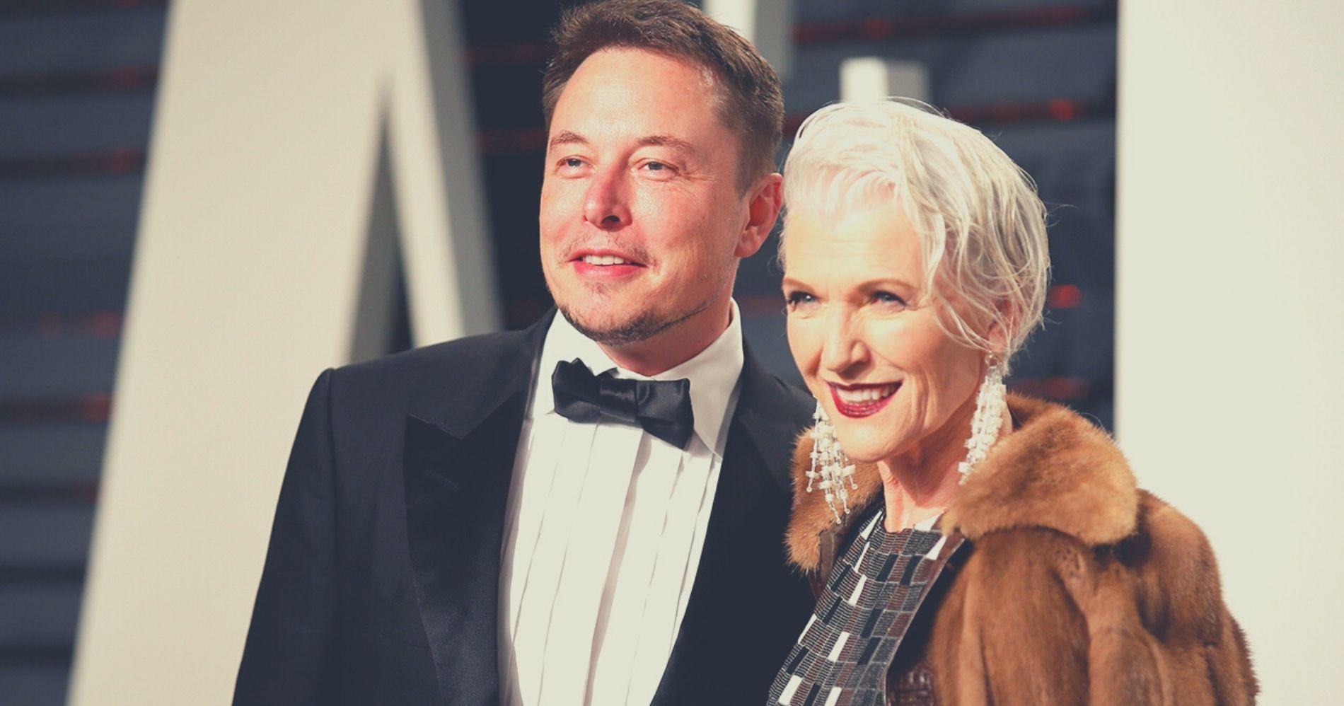 Elon dan Maye Musk - Pinterest