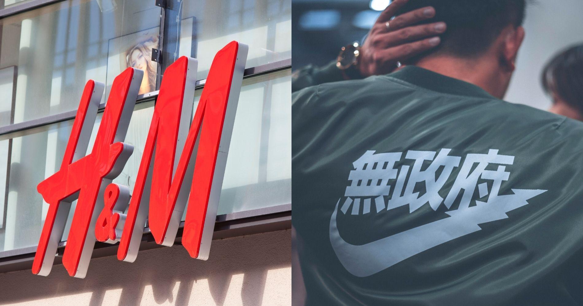 H&M dan Nike - Canva