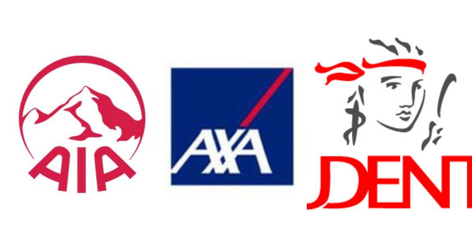 Logo AIA Financial, AXA Mandiri dan Prudential ( Sumber : Google )