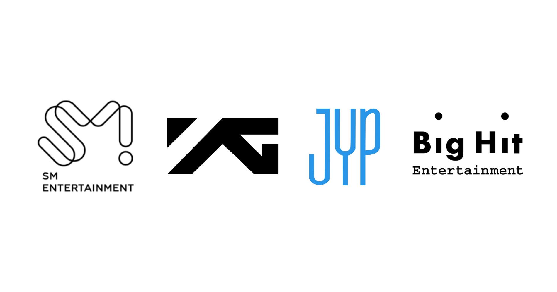 Logo 4 Perusahaan Agensi Entertainment Korea