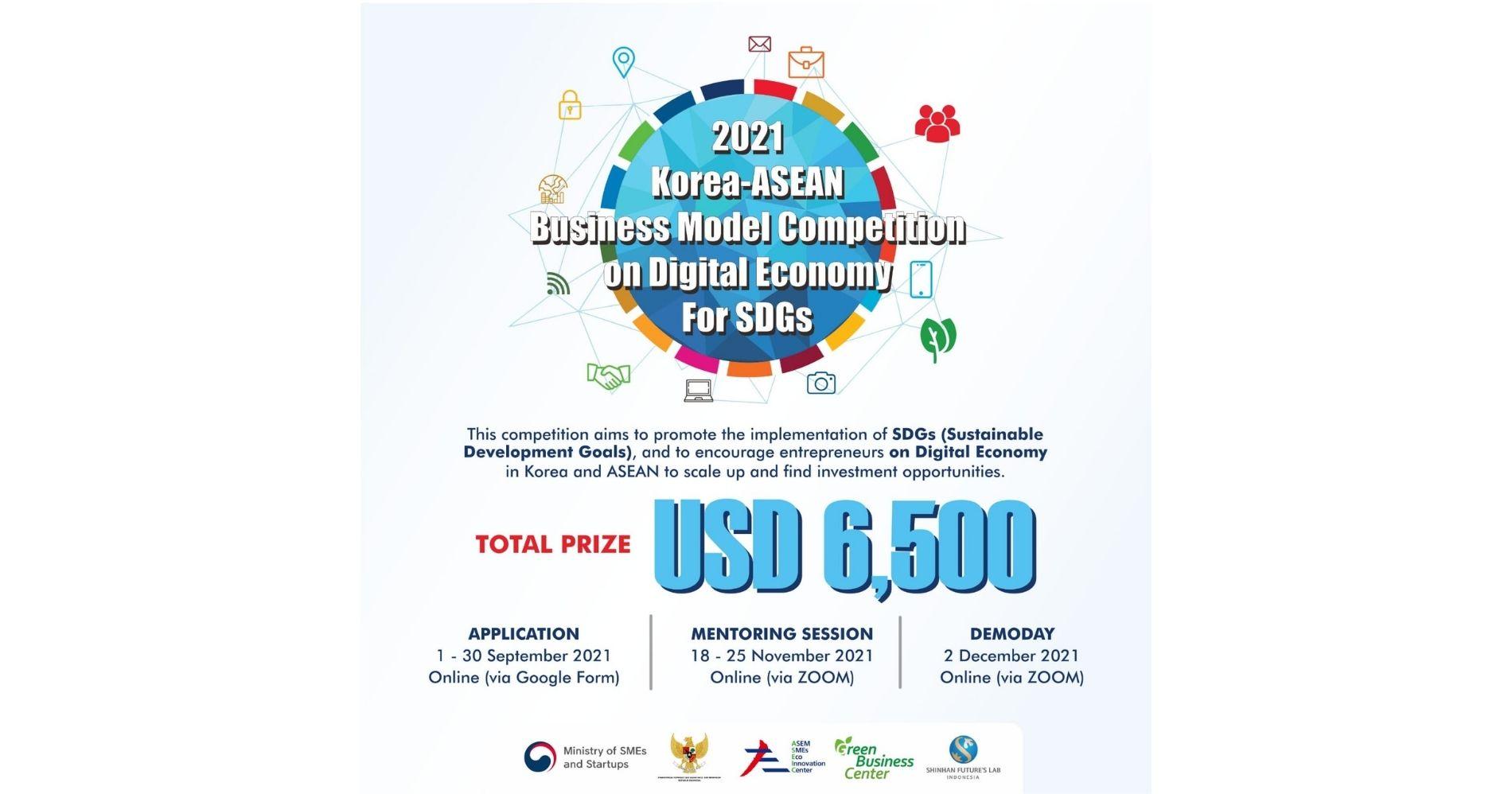 "Gambar: Poster ""2021 Korea-ASEAN Business Model Competition on Digital Economy For SDGs"