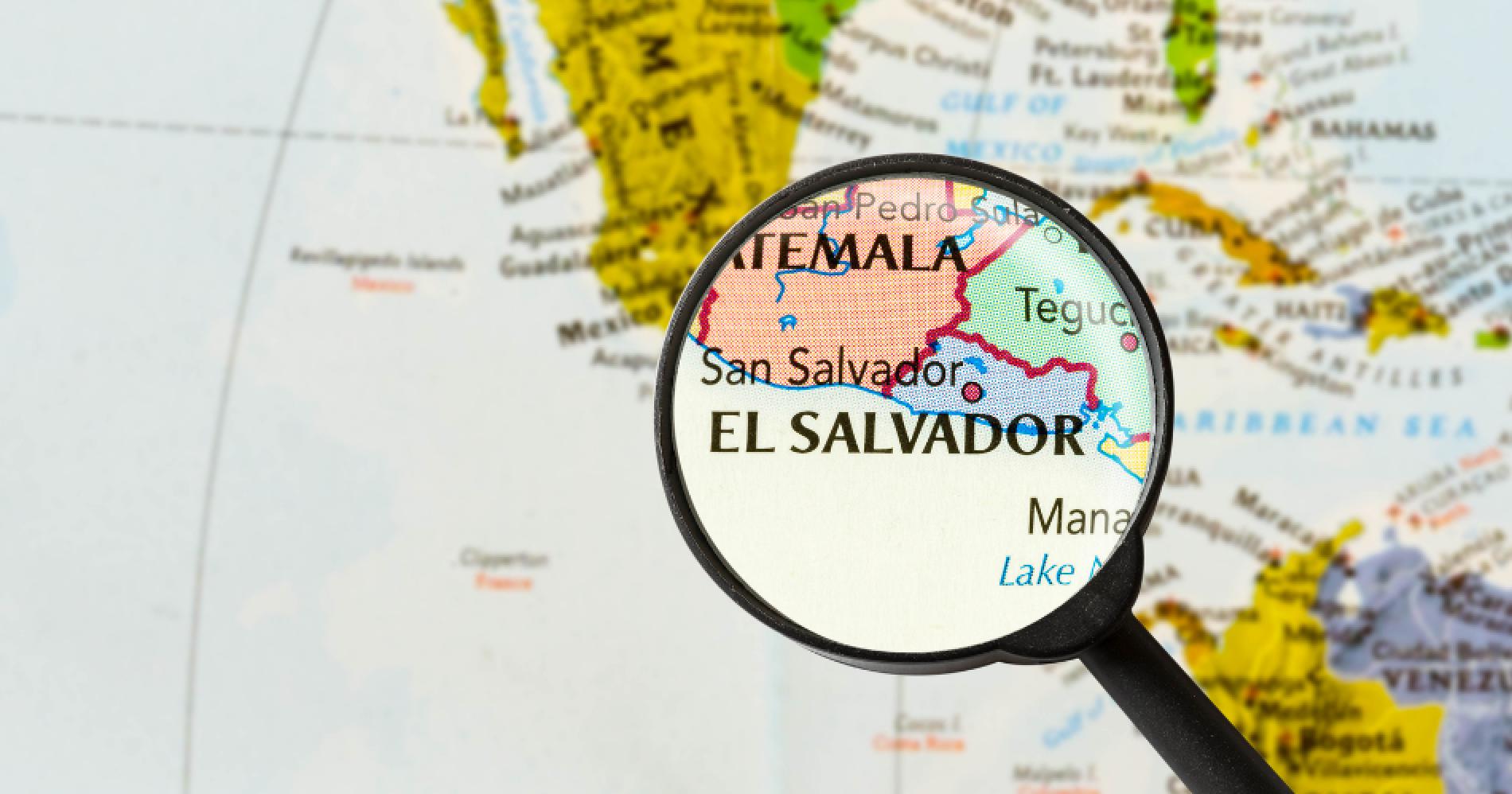 El Salvador on Map Illustration Web Bisnis Muda - Canva