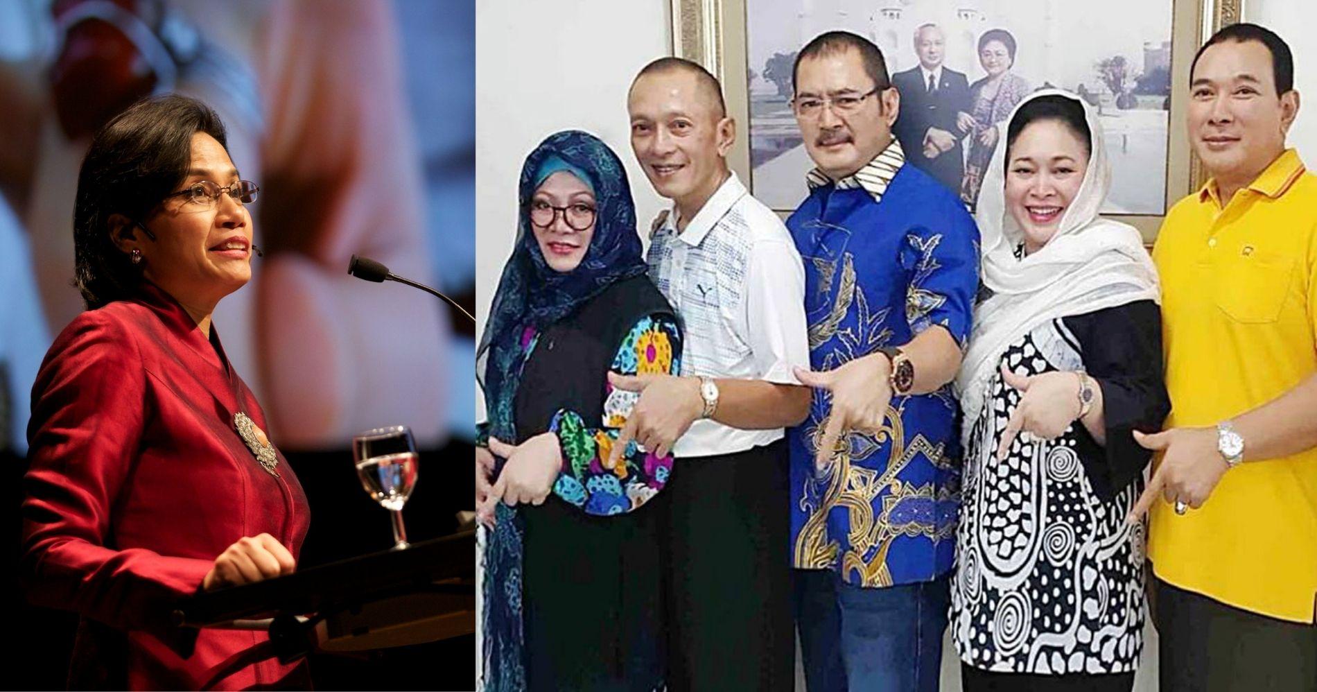 Sri Mulyani Kejar Utang Anak Soeharto Illustration Web Bisnis Muda - Image: Wikimedia - Partai Berkarya