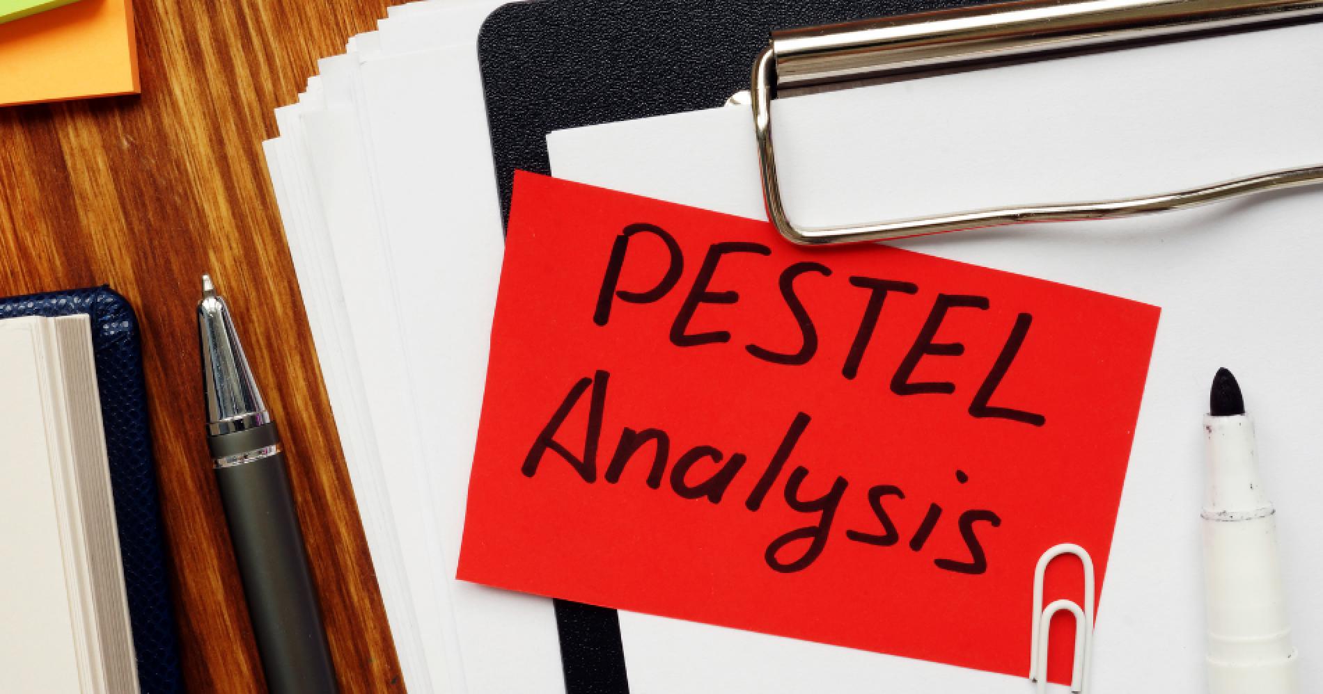 PESTEL Analysis Illustration Web Bisnis Muda - Canva