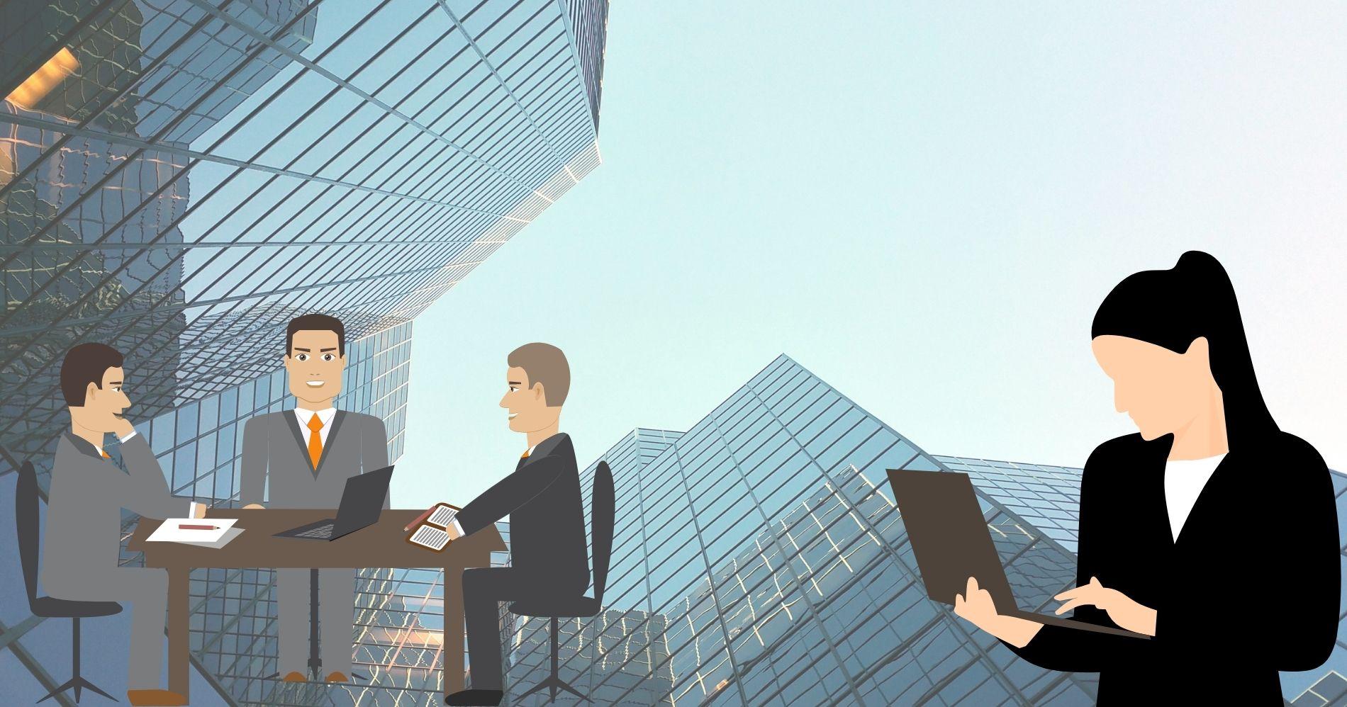 Ilustrasi Gambar Perusahaan IPO - Bisnis Muda - Canva.com